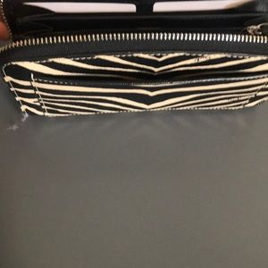 Coach Bags - NWT Coach zebra Animal Print ZIP Wallet